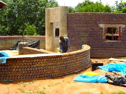 Impenetrable Fireproof House Made from Used Plastic Bottles