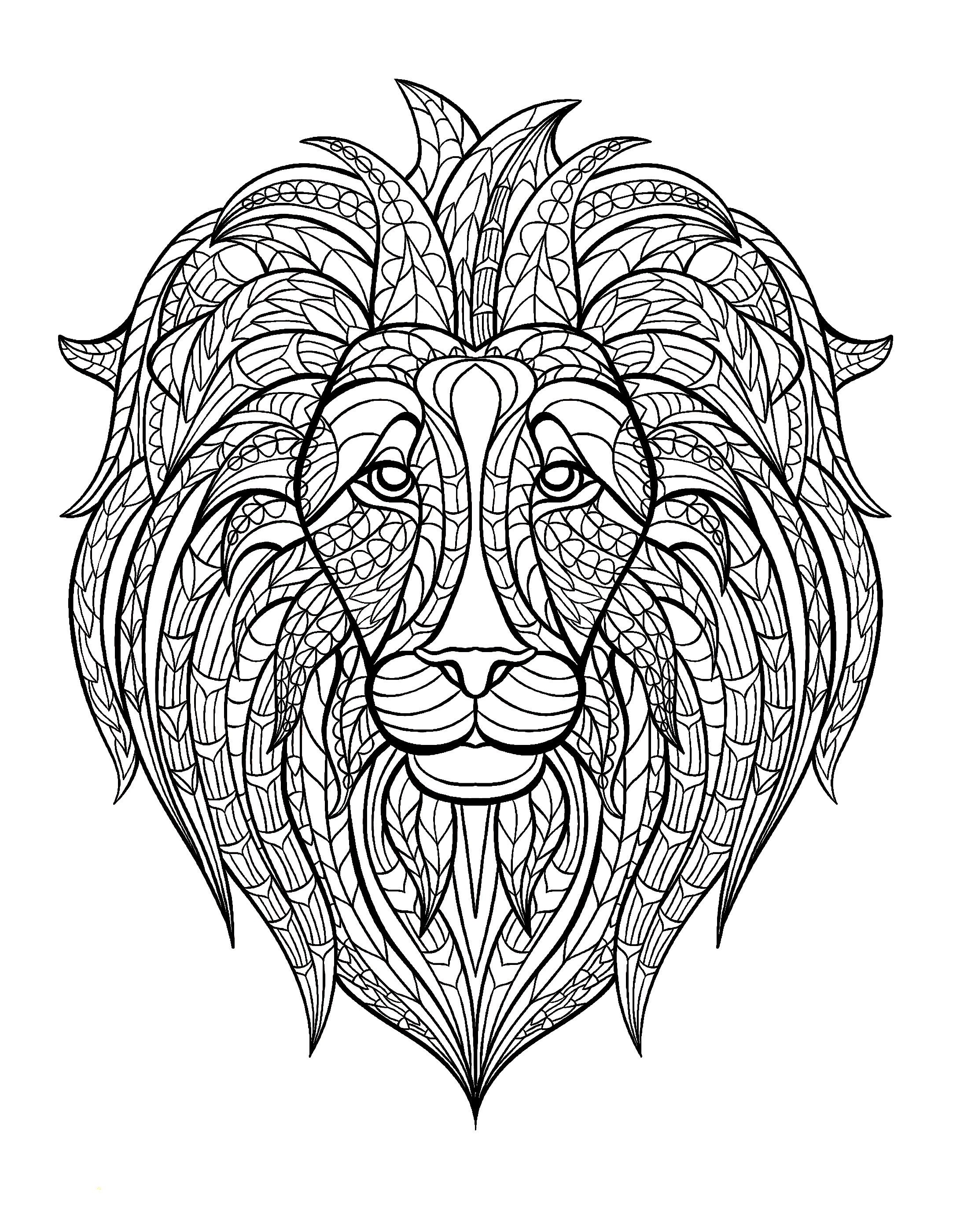Animal Adult Coloring Book Giveaway on Natural Blaze!Lion Head Coloring Pages For Adults