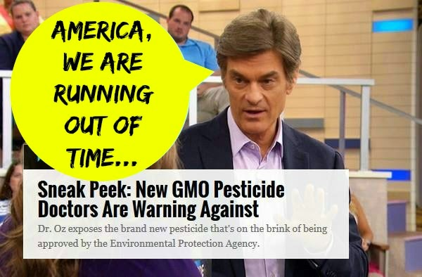 Dr. Oz: GMOs Can Be Ushering in a Pesticide Arms Race