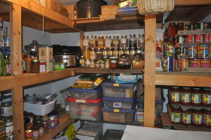 A Quick Look Inside a Survival Pantry