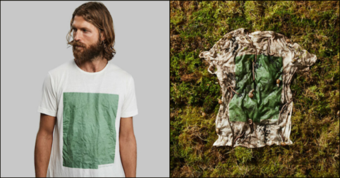 One-Of-A-Kind T-Shirt Made From Wood And Algae Can Be Composted In Your Backyard