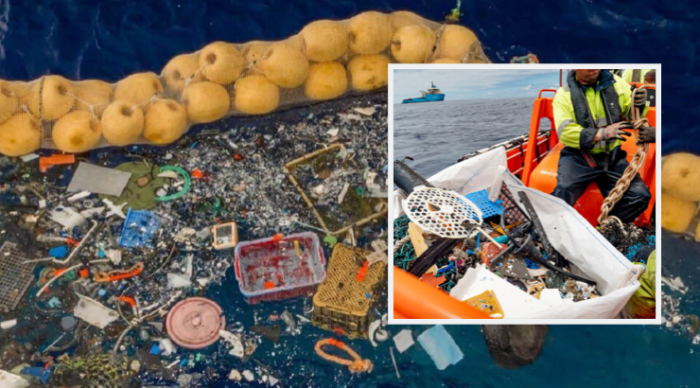 "The ""Ocean Cleanup"" Device is Finally Hauling in Huge Bags of Plastic Garbage"