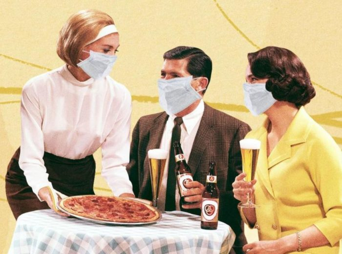 """CA Governor's Office Says To Wear Mask """"In Between Bites"""" At Restaurants"""