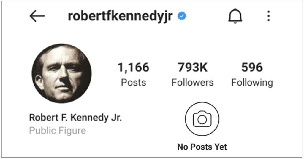 Instagram Bars Robert F. Kennedy Jr. For Spreading Vaccine Information Rfk-1024x537